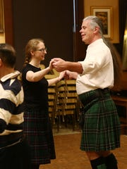 Castle Point Scottish Country Dancers, from left, John