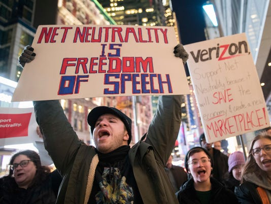 AP APTOPIX NET NEUTRALITY RALLY F USA NY