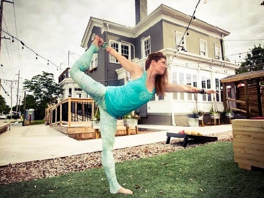 Beer and Yoga Sunday at Parlour in Jeffersonville