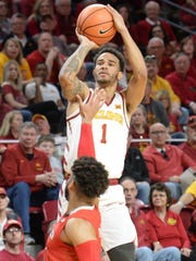 Iowa State Cyclones guard Nick Weiler-Babb (1) attempts