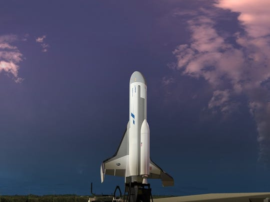 Artist rendering of Boeing's Phantom Express ready