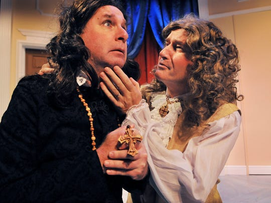 Mark Blackledge and Adrian Cahill in a production of Tartuffe at the Melbourne Civic Theatre. Blackledge passed away suddenly at the end of July.