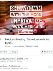 Iowa CCI promotes a Dec. 5 public forum about Iowa's