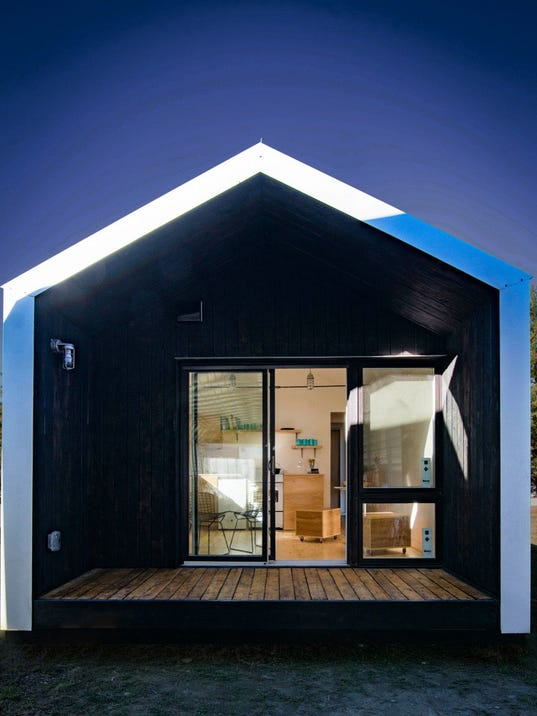 Norwich students win architecture award for tiny house
