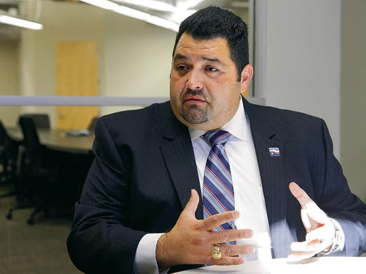 Texas State Teachers Association President Noel Candelaria returned to El Paso on Wednesday to discuss a new campaign that is encouraging more state investment in education and less testing.