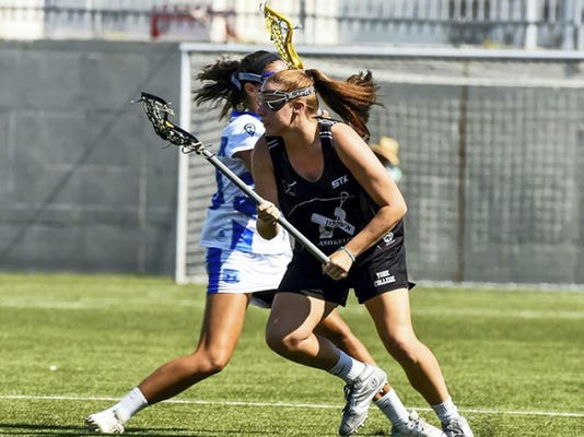 York College women's lacrosse standout Jayme Verman, front, has just returned from a life-changing visit to Israel, where she was instructor at a lacrosse camp.