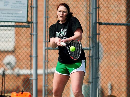 Susquehannock graduate Katie Wagner returns as York College's No. 1 singles player for fall 2015.