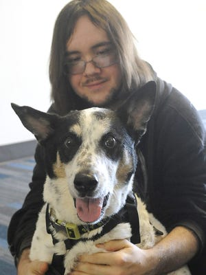 Anthony Downey's service dog, Whitey, was diagnosed with lung cancer over the winter.