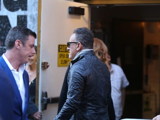 Bruce Springsteen arrives at the Walter Kerr Theater