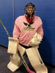Breese Burlingame was one of five goalies and more than 60 players overall at a one-day tryout in Buffalo.