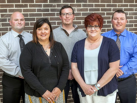 Five graduates were recently inducted into the GST BOCES Hall of Fame. From left are Ryan Harrison, Heather McLaughlin, Abe Thomas, Jody Andrus and Jason Emo.
