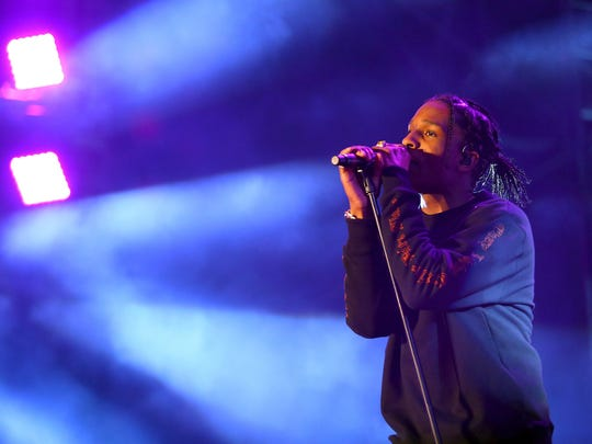 A$AP Rocky, seen here performing at Coachella, was detained late Tuesday night by Swedish police on suspicion of assault.