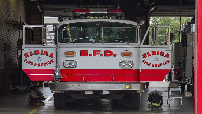 The Elmira Fire Department headquarters is on Second Street in Elmira.