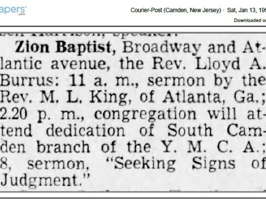 A listing in the Jan. 13, 1951 Courier-Post notes that
