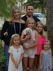 Our family today: Julie, myself, Olivia, 6, Madison,