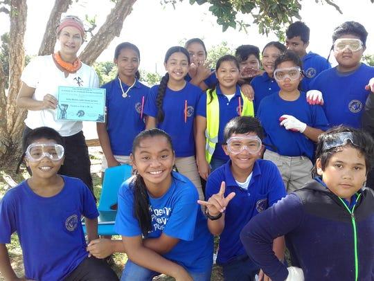M.U. Lujan Elementary School fifth grade students in