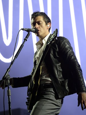 Alex Turner of Arctic Monkeys performs on stage during the Rock-en-Seine music festival on August 22, 2014 in Saint-Cloud, near Paris.