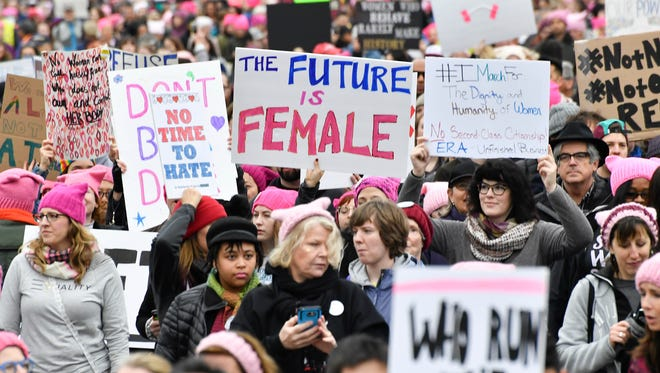 A general view during the Women's March on Washington a day after the inauguration.