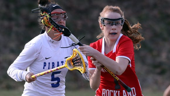 Phoebe Mullarkey of North Rockland controls the ball