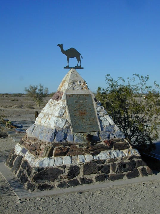 Tomb of legendary camel driver Hi Jolly