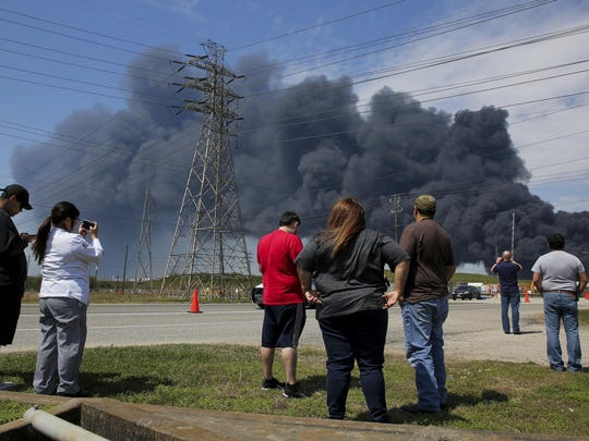 Petrochemical Fire-Texas