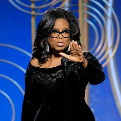 Oprah Winfrey accepting the Cecil B. DeMille Award