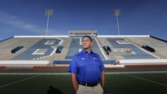 Bowie High School head football coach Robert Padilla was the El Paso Times' Coach of the Year in 2016. Padilla took his Bears to a district championship for the first time since 1971.