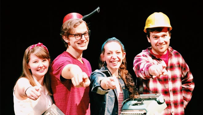 "Directors for the one acts are, from left, Michaellena ""Mikey"" Ambrowiak, Michael Baumhardt, Sophie Widman, and David Firari."
