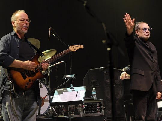 Walter Becker (left) and Donald Fagen of the band Steely Dan, pictured in 2008.
