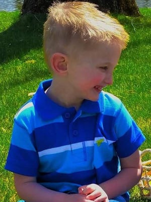 Brayson Price, seen in this family photo, died at age 5, in 2016.  Brayson's mother and her boyfriend are accused of killing the child.  Justin Morgan, Brayson's father, is suing the Indiana Department of Child Services accusing the state agency of being complicit in his son's death.  DCS received at least 11 reports of suspected child abuse prior to his death, but failed to act, says Morgan.