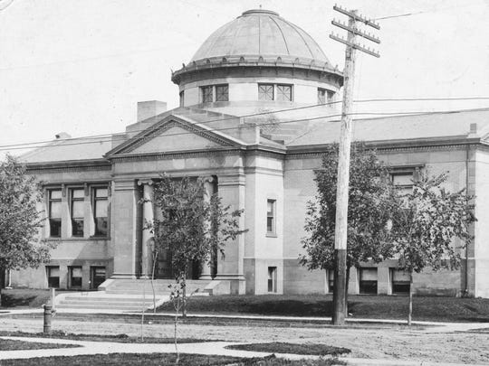 The Great Falls Carnegie Library as it appeared sometime
