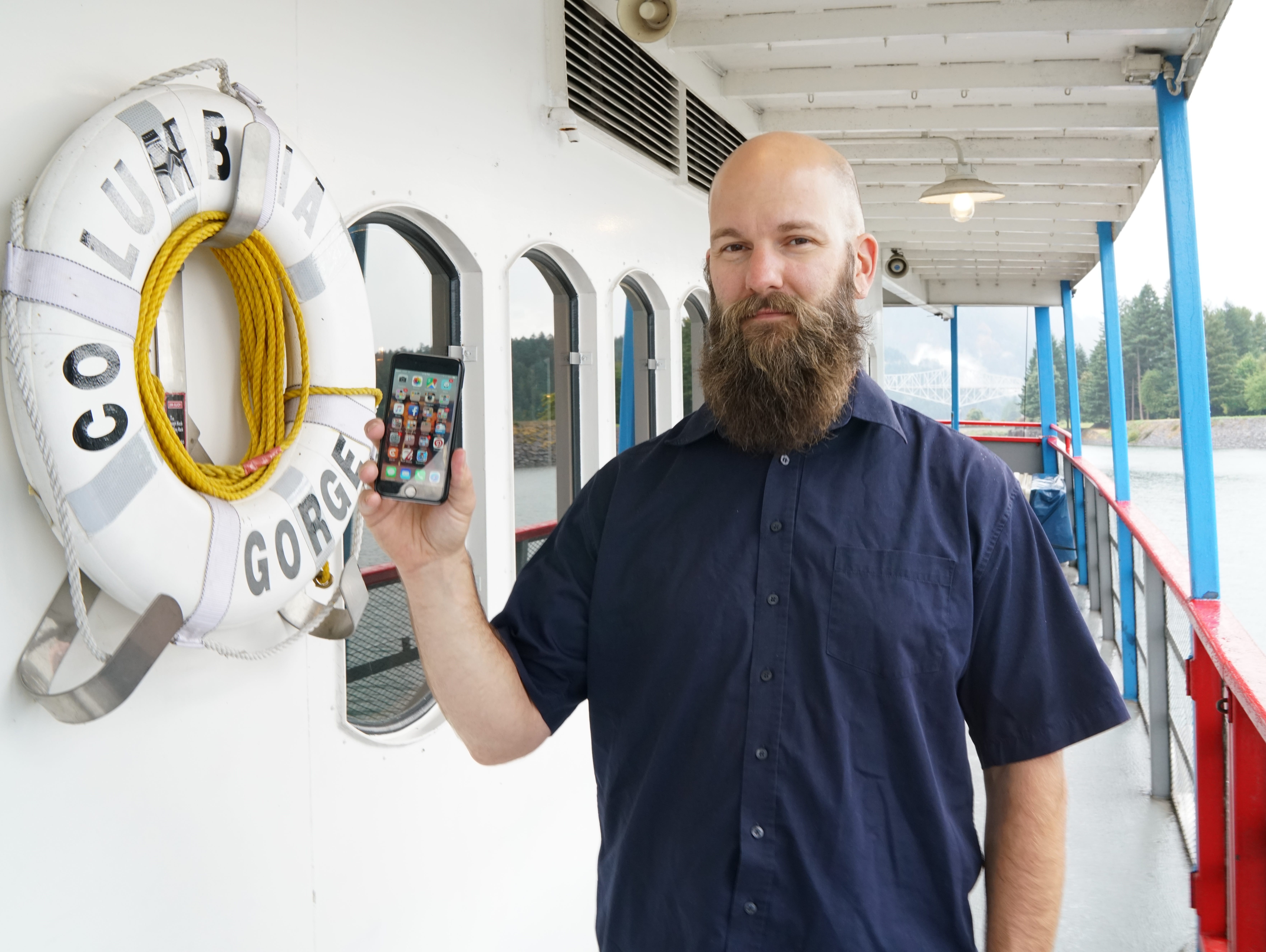 Jeff Caldwell, general manager of the Portland Spirit sternwheeler, buys a new iPhone every year