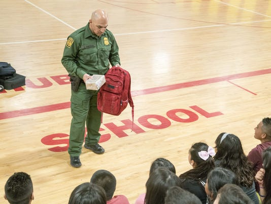 Border Patrol program at Paul Huber Middle School in Douglas