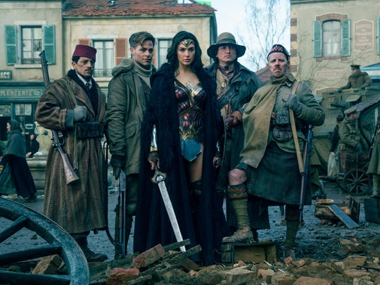 Wonder Woman and her crew.