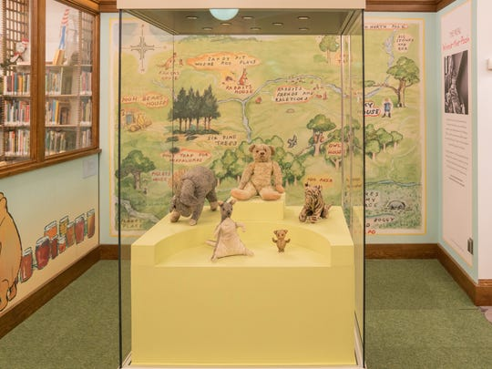 Winnie-the-Pooh and friends are on permanent display in the children's section of the New York Public Library.