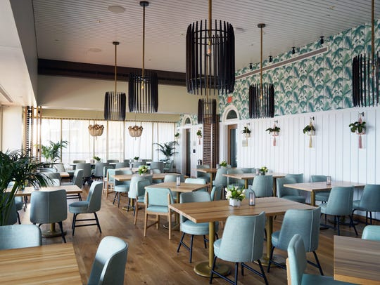 The dining room at Jose Garces' Olón in Atlantic City.