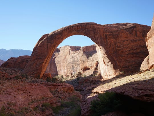 Rainbow Bridge is North America's largest natural rock