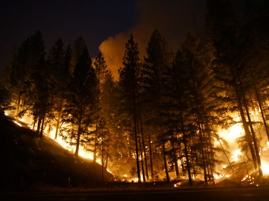Experienced firefighters have been confounded by the Carr Fire's overnight behavior. Wildfires normally flare up during the day and calm back down at night when the temperatures are cooler and the winds calmer. But dry conditions mean the Carr Fire gets roaring in the day and then keeps burning at night.