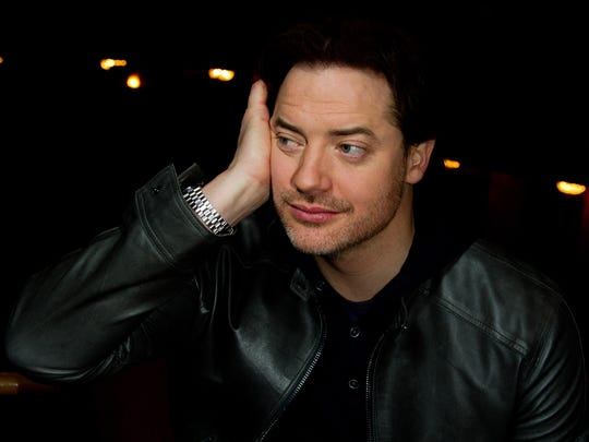 Actor Brendan Fraser poses for a portrait at the Ethel Barrymore Theatre in New York, Friday, Nov. 12, 2010.
