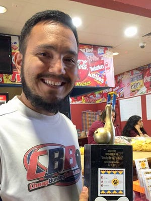 Eddie Joe Torrez was the overall high score in the men's division of the Bowling for Fur Balls Tournament.