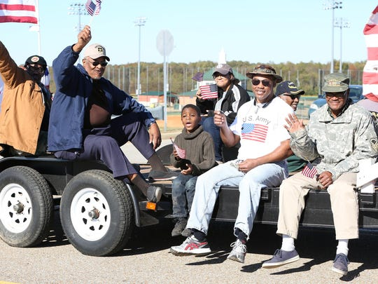 The 2nd Annual Veteran's Day Parade was held Saturday near the BAllpark of Jackson. This is one of several veterans groups that participated.