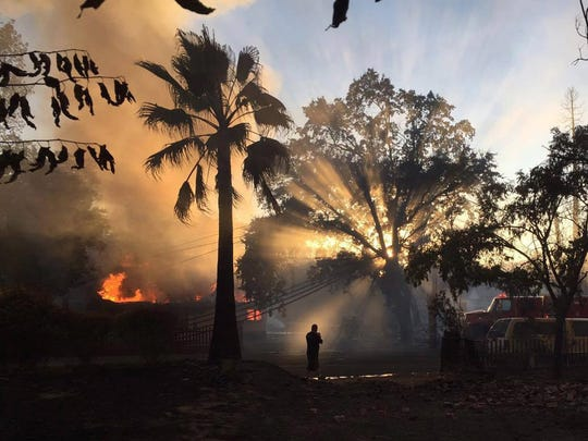 A photo provided by Calfire on Aug. 16, 2016, shows