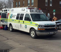 Crews tend to victims in an accident at Sixth Street and Franklin Avenue in Sioux Falls on Wednesday.