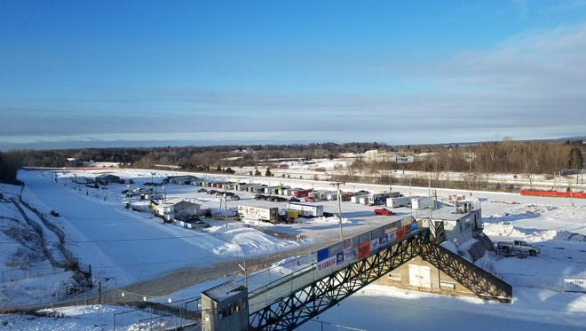 An overview look of the I-500 Track in Sault Ste. Marie.