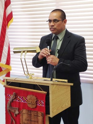 Dan Otero, CEO of Hidalgo Medical Services, speaks to the Silver City/Grant County Chamber of Commerce on Thursday.