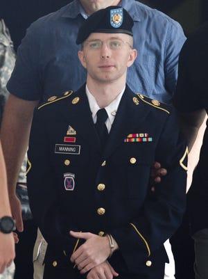 U.S. Army Pfc. Bradley Manning.