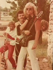 Area hard rock band RIP, shown in the early 1980s,