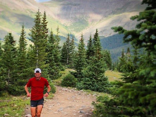 Tri-Valley graduate Gavin McKenzie runs near Quandary