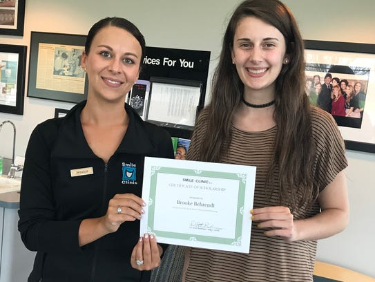 Brooke Behrendt (right) was recently awarded a $500
