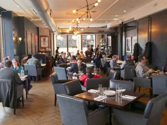 The dining room at Republic restaurant in downtown Detroit at Cass and Grand River.